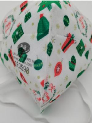 FFP2 NR Atemschutzmaske Weihnachts-Edition #2 mitCE Zulassung nach Norm EN149: 2001 + A1:2009 und elastischem Kopfband