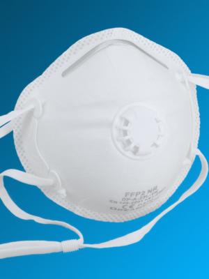 FFP2 Atemschutzmaske DreamCan DP-A-22L-VK mit Ventil und CE Zulassung EN149: 2001 + A1:2009 und elastischem Kopfband